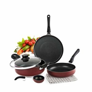 Cello Prima + Induction Base Non-Stick Aluminium Cookware Set