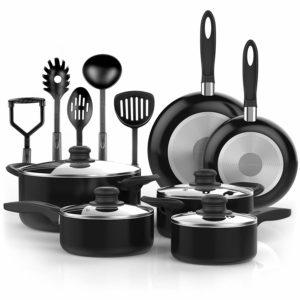 Vremi 15 Piece Nonstick Cookware Set