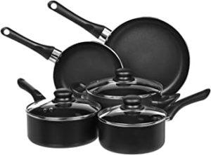 Amazon Basics 8-Piece Non-Stick Kitchen Cookware Set