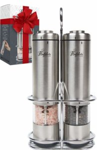 Flafster Kitchen Battery Operated Salt and Pepper Grinder Set