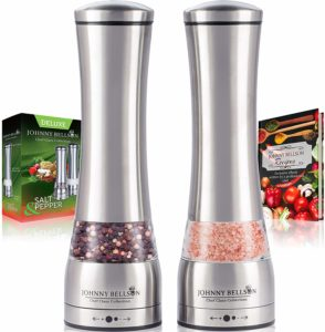Johnny Bellson Premium Stainless Steel Salt and Pepper Grinder Set